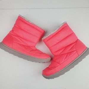 Tek Gear Neon Pink Puff Winter Boots TGHAZELMELON